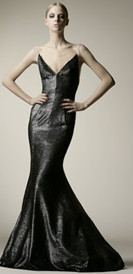 kaufman franco long black bubble hem dress