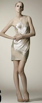 kaufman franco shimmering gold one shouldered mini dress