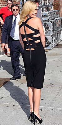 charlize theron in black narsisco rodriguez dress back