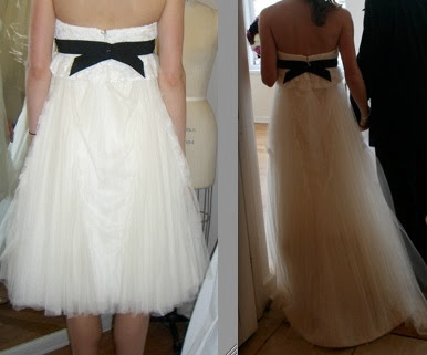 back vera wang wedding gown