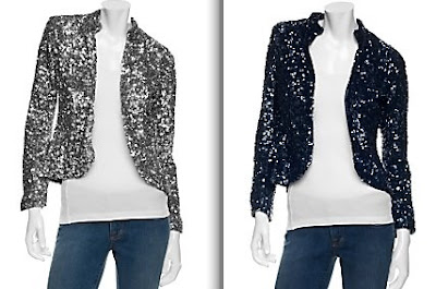 gryphon sequin jacket in blue and silver