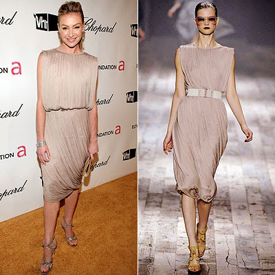 portia de rossi in cream lanvin gown