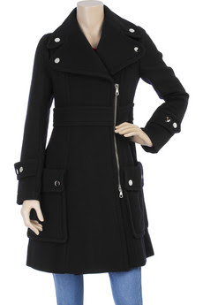 sonia by sonia rykiel black wool trench coat