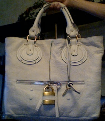 chloe paddington tote in beige