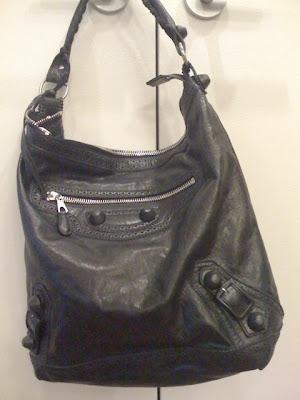 balenciaga black hobo