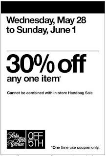 Printable coupon saks fifth avenue off 5th