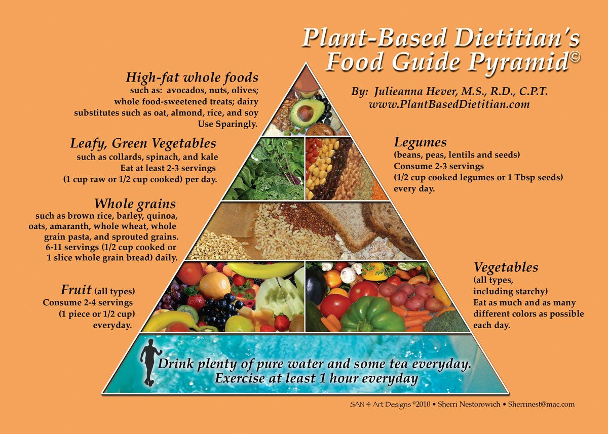 Whole Food Plant Based Diet Pyramid