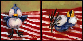 "Oil on canvas diptych 5 x 10"" -sold-"