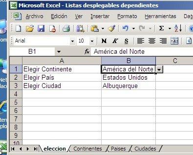 Listas desplegables dependientes múltiples ~ JLD Excel en Castellano ...