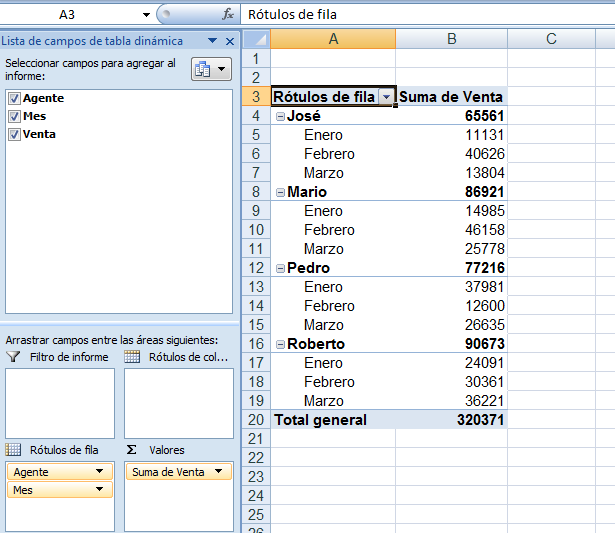 como hacer una tabla dinamica en excel 2010