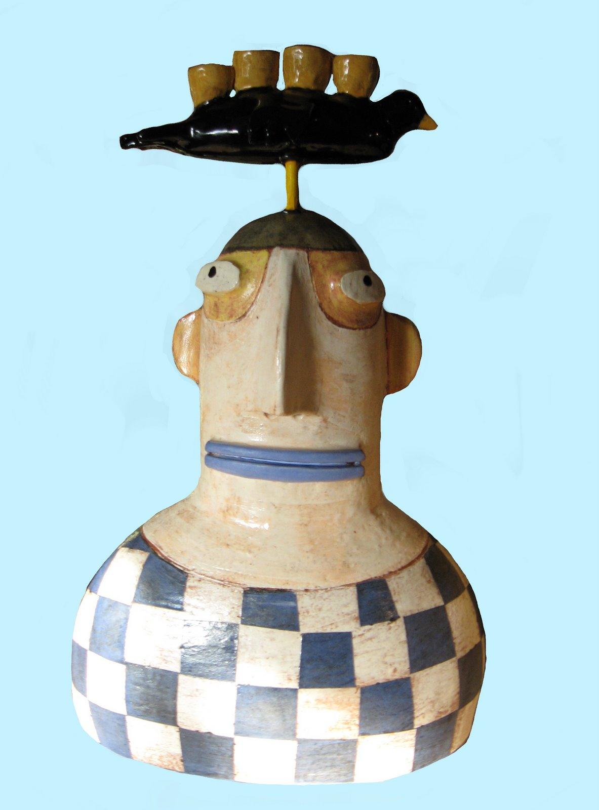 [checkered+man+bird+candle]