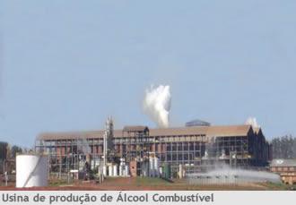 Usina de produção de álcool combustível