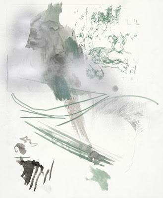 Nick Mauss Untitled, 2007  graphite, acrylic, spraypaint on paper 35.5 x 41.25 cm