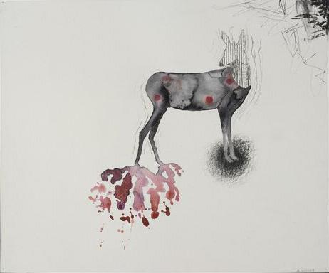 Arno Kramer  Untitled, 2007  51,6 x 43 cm  aquarel and charcoal on paper
