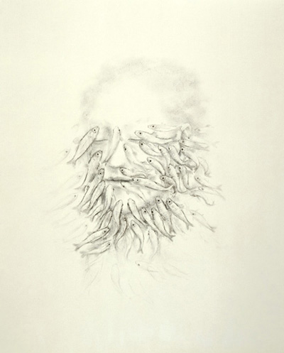 Juul Kraijer  Untitled, 2005  charcoal on paper  60.2 x 48.9 cm