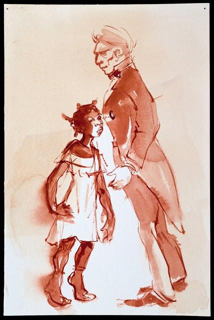 Kara Walker Negress Notes (Brown Follies), 1996-1997 watercolor on paper 22.9 x 15.2 cm