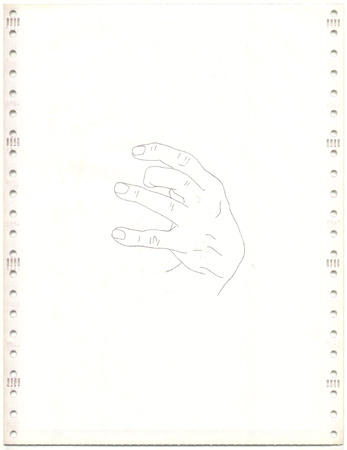 Pavel Büchler Conversational Drawings 4, 2008 1 of 7 drawings on carbonless copy paper 28 x 21,5 cm