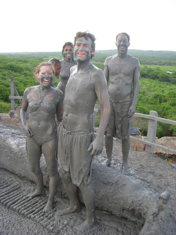 Take a mud bath in a 'volcano'
