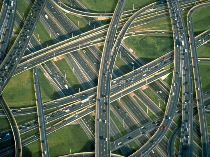 Aerial shot of junctions