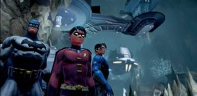 Imagem do game, grupo do Batman