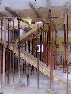 La nostra casetta realizzazione della scala - Oblo tetto casa ...
