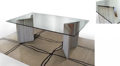 Mesas de comedor de vidrio con bases muy originales for Mesas de comedor de vidrio y metal