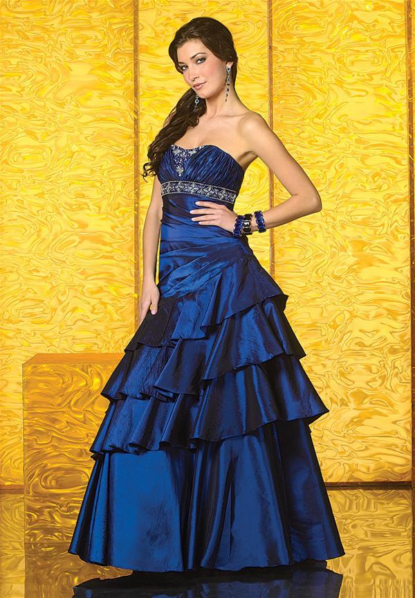 59ca8e4ec Lindo vestido strapless para fiesta de promoción de color azul