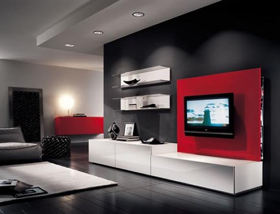 Decoracion de living minimalista. diseño de muebles para baños ...