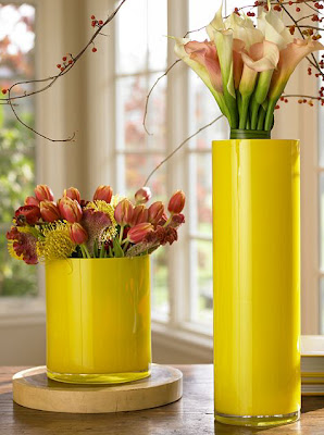 PotteryBarnYellowVases - *Yellow Vases*
