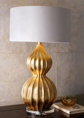 Dose of Design: Love it! - Gold gourd lamp