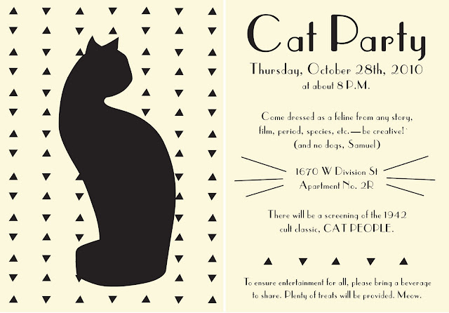 Something Concerning Everything Occurring Cat Party Invitations