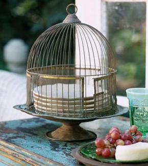 Vintage Birdcage Cake Stand