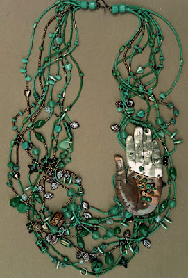 Beaded necklace by Robin Atkins, bead artist