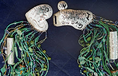 Overheard on a Saltmarsh, necklace by Carol Berry and Brian Kerkvliet, detail