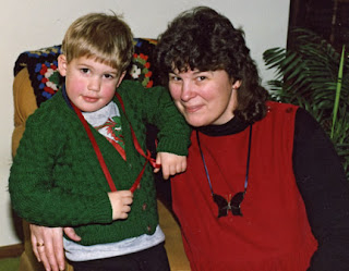 Robin Atkins and her nephew Andy Cook;1984