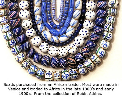 African trade beads, Robin Atkins collection