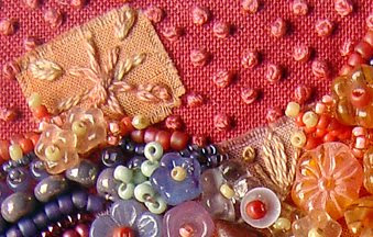 thread and bead embroidery, Robin Atkins