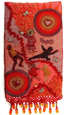 improvisational bead embroidery by Bobbi Pohl, Dance,