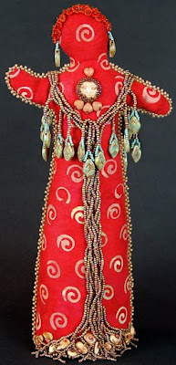 beaded spirit doll by Robin Atkins, Madrona