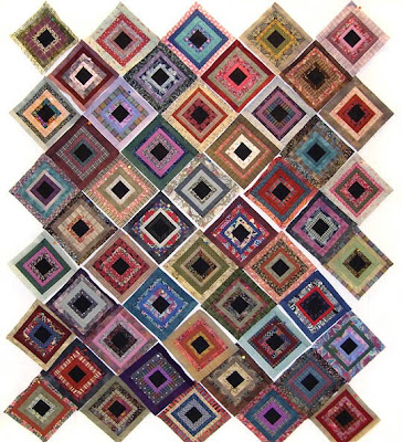 God's Eye Quilt by Robin Atkins, arrangement of 50 blocks, quilt #1