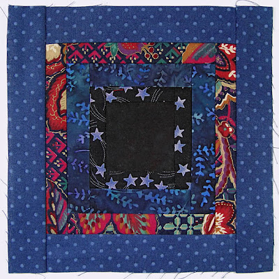 God's Eye Quilt, block 9, by Robin Atkins