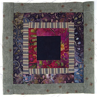 God's Eye quilt by Robin Atkins, auditioning fabrics 11