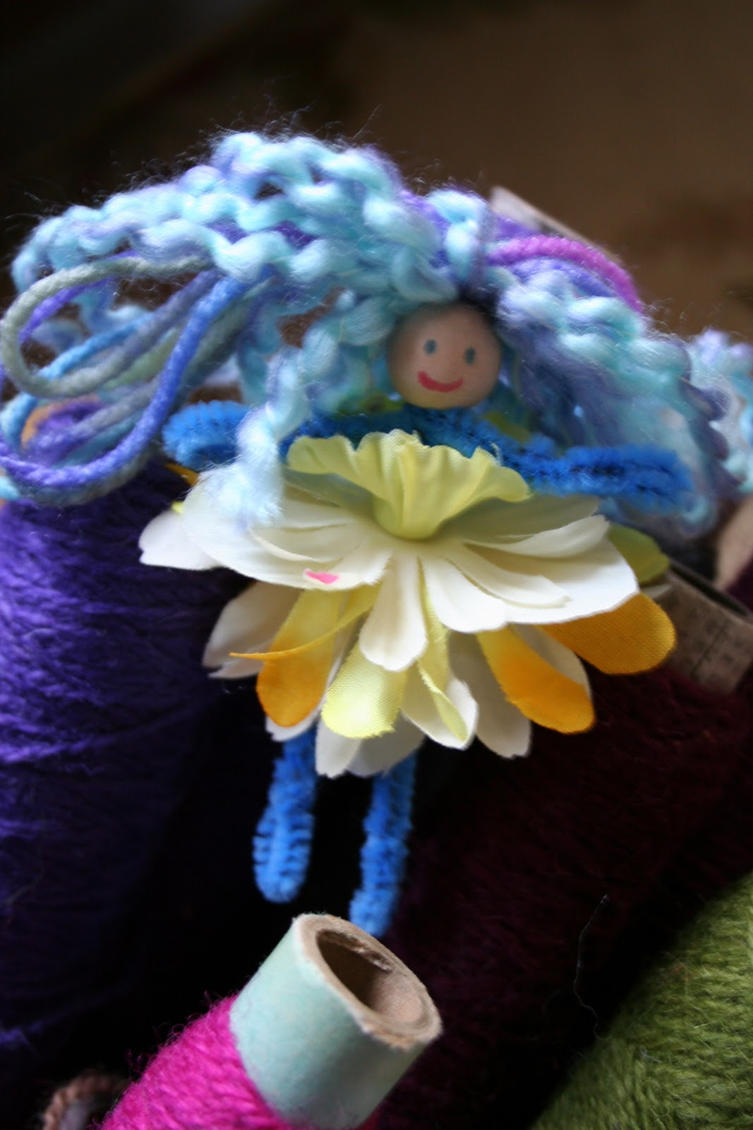 pink and green mama easy kid craft pipe cleaner flower fairies