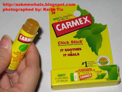 Few carmex lip wind and dry,