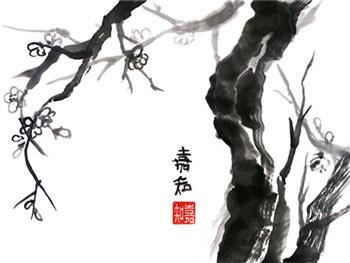 Resultat d'imatges de haiku de otoño pintura japonesa