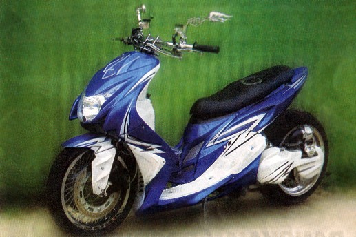 Modifikasi Motor Matic: YAMAHA MIO LOW RIDER BLUE AIR BRUSH