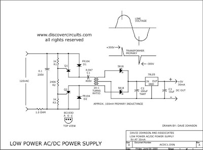 AC/DC POWER SUPPLY MINIATURE ISOLATED | Power Supply Diagram and Circuit