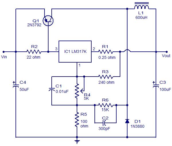 Lm317k 3a Switching Regulator Circuit Power Supply