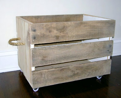 diy pallet crate with rope handles