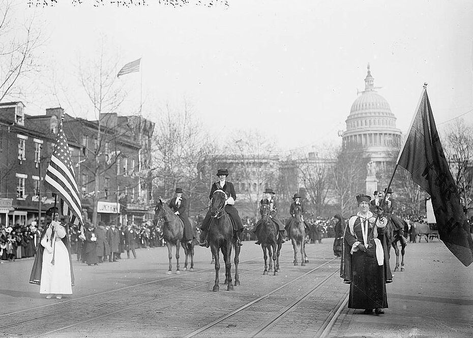 Head of suffrage parade, Credit Line: Library of Congress